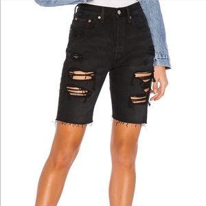 Levi's High Waisted Slouch Shorts